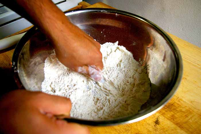 Mix The Shortening By Hand Into The Flour