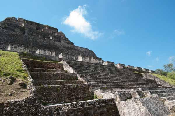 Xunantunich's largest pyramid, El Castillo, rises 130 feet above the main plaza.