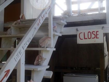 """Caye Caulker - kitchen """"close(d)"""""""