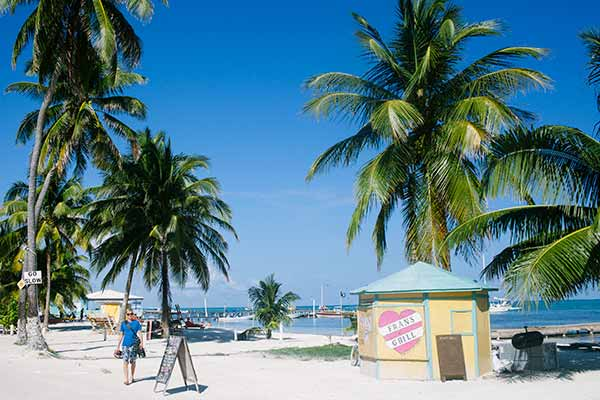 front street 2 Finding Paradise on Caye Caulker