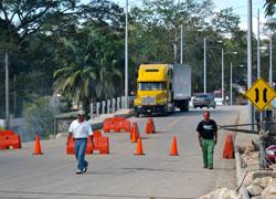 The Guatemalan border.