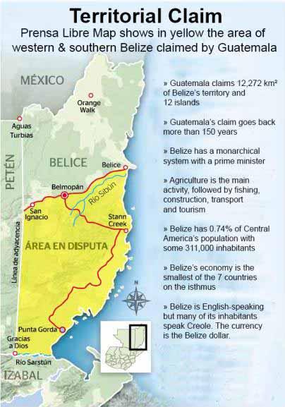 Belize Guatemala territory dispute