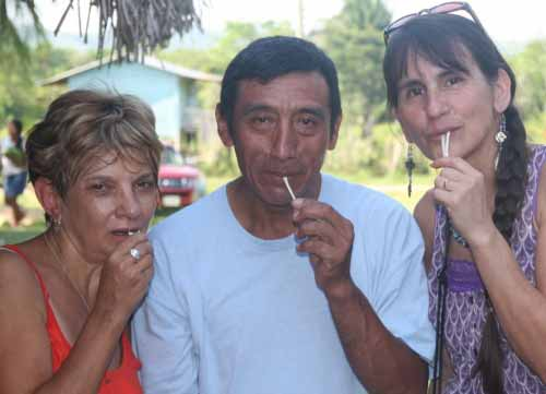 Mayan home visit in Big Falls