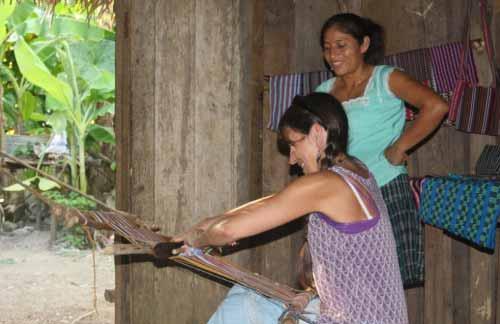Weaving in Big Falls Chiac family