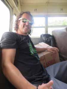 Bus travel = glamorous.
