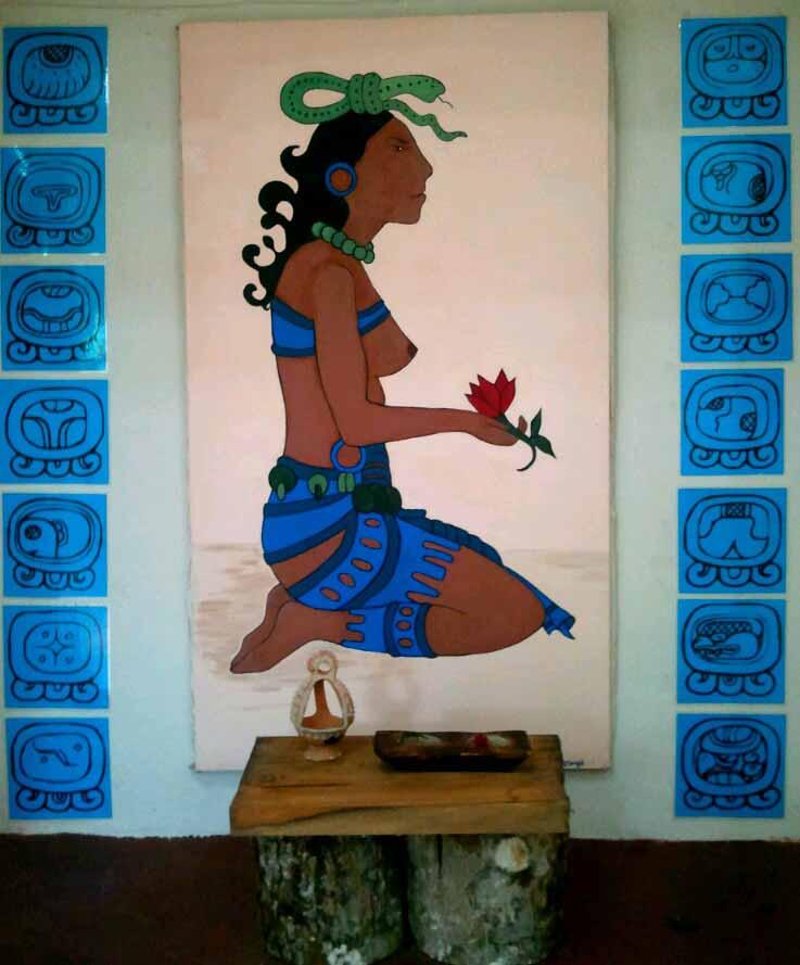 Ixchel maya goddess of medicine and fertility