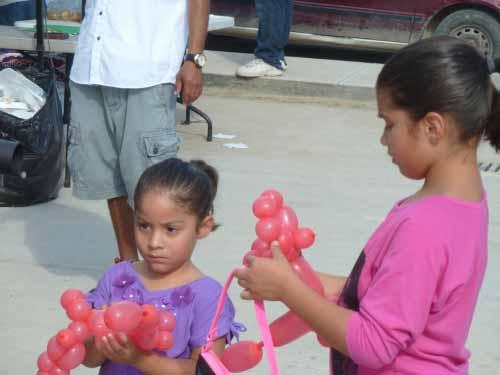 Cute kids abound.