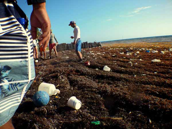 Long Caye, a Caribbean island 47 miles off the coast of Belize, is awash in plastic.