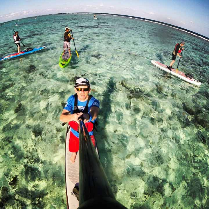 PADDLING THE REEF CREST
