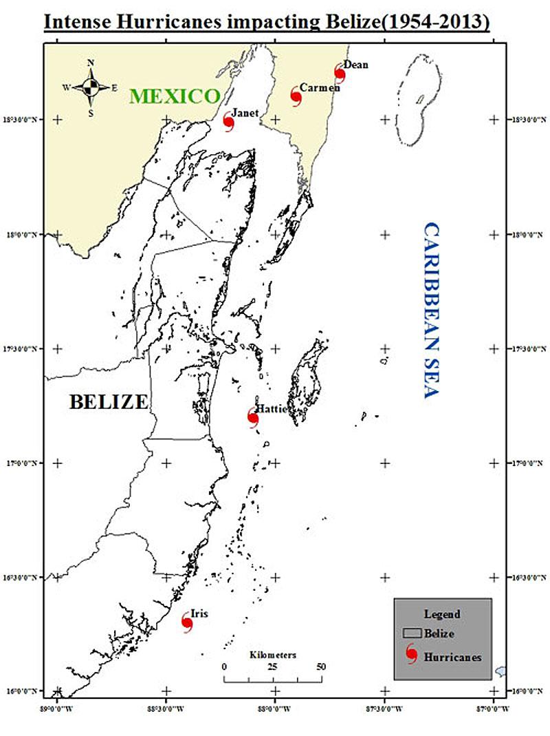 Intense Hurricanes Impacting Belize