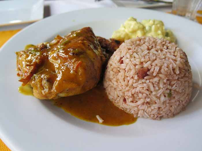 Stewed Chicken or Pork with Rice and Beans - Ambergris Caye Belize ...
