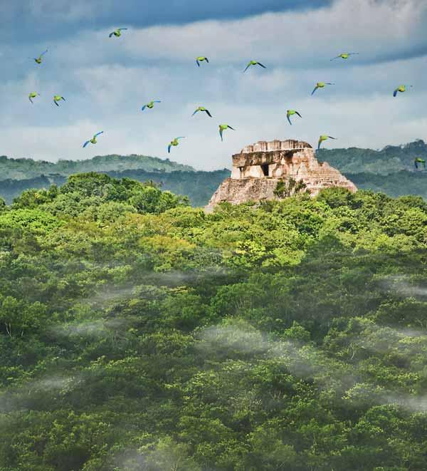 The Maya site of Xunantunich & Caracol Mayan Site 7