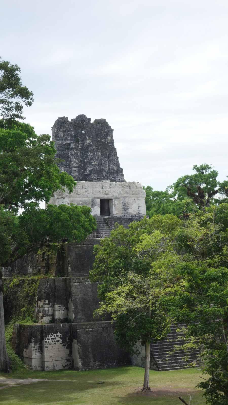 Tikal Temple 2 Palace view