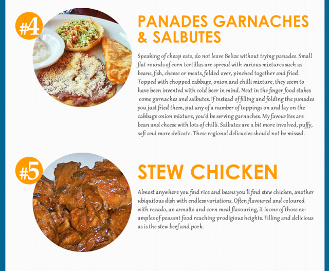 Top 10 Belizean Food Infographic