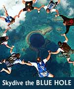 Click to see information on The Blue Hole Skydive Adventure in Belize
