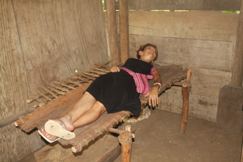 Traditional Mayan bed from tree bark