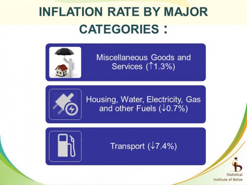 inflation by major categories