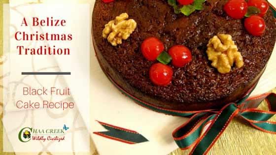 Belizean Black Fruit Cake Recipe