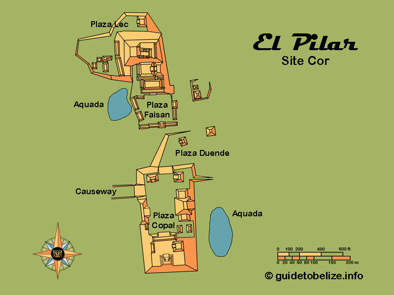 El Pilar Map   www.guidetobelize.info