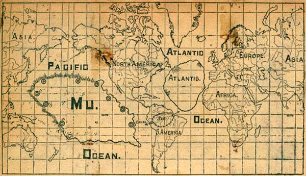 MU and Atlantis Map www.bibliotecapleyades.net