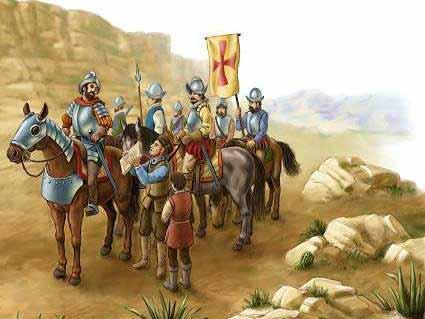 Spaniards on horses - shelledy.mesa.k12.co.us