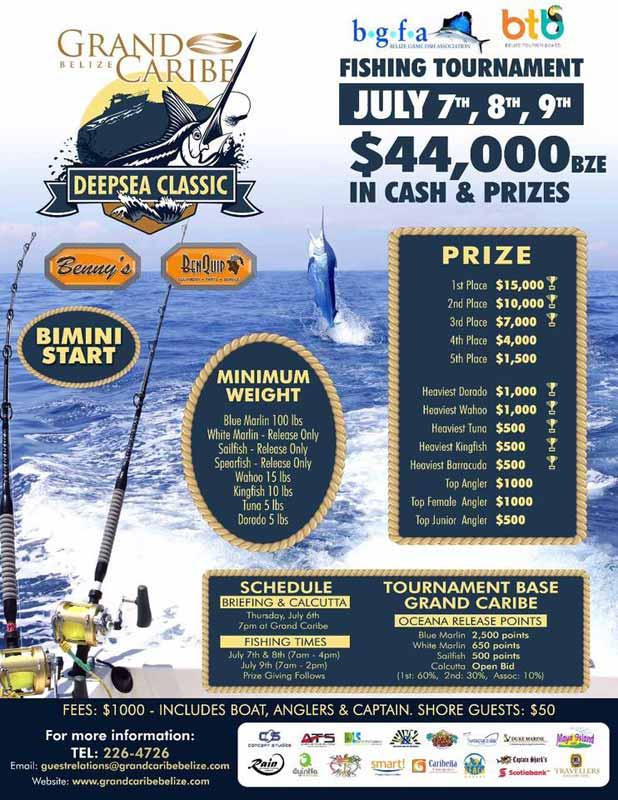 International deep sea classic fishing tournament for Deep sea fishing belize