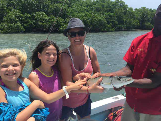Fishing at Ambergris Caye.