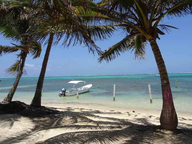 The stunning view at San Pedro, a small town on the island of Ambergris Caye.