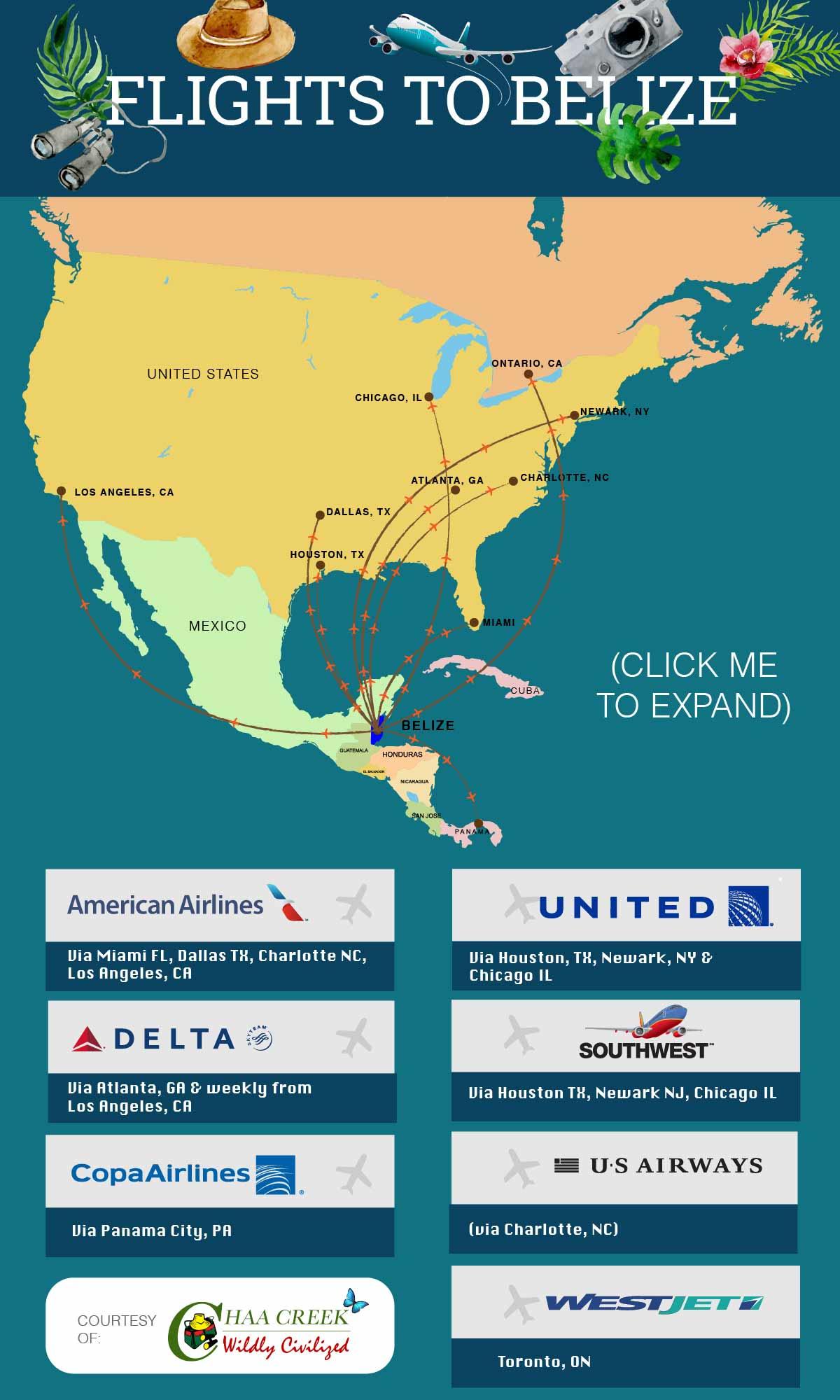 Flights To Belize Amp Flight Schedules