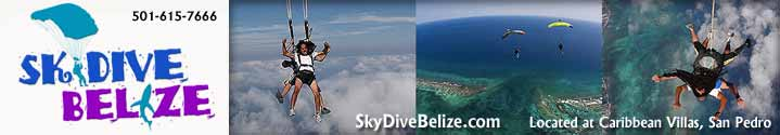 Skydive Belize is now offering tandem skydives weekly from December to April in San Pedro Town, Ambergris Caye