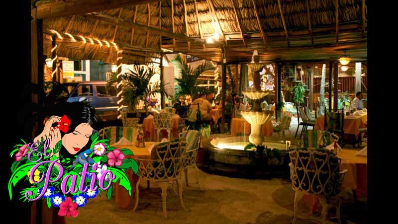 El Patio Restaurant Lounge Menu Ambergris Caye Belize