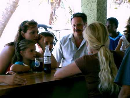 Kirsten entertaining family at BEAN