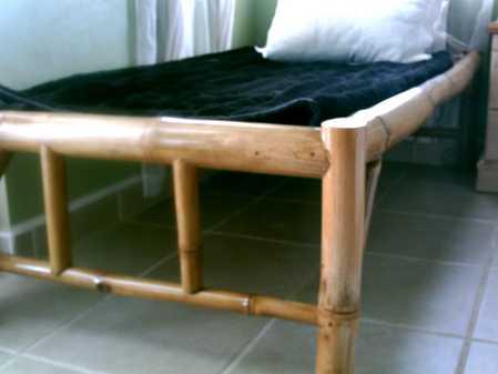 "Sturdy bamboo bed - platform size 39 x 75"""