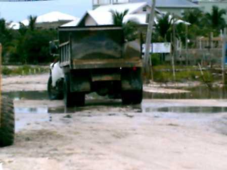 Dump truck going back for more