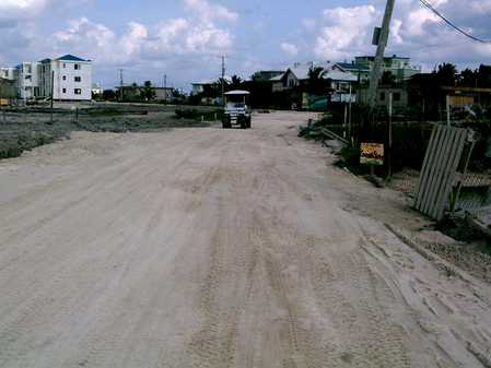 Road sanded and leveled from bridge to Reef Village