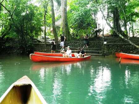 Canoes at the cave