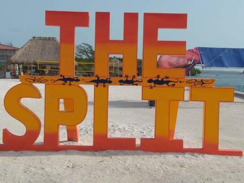 Caye Cauker The Split sign.jpg