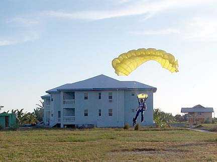 Landing beyond the Villas