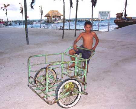BOY & BICYCLE CART ON BEACH jpg.jpg
