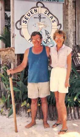 Barb & Bill at resort in 88