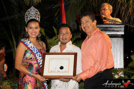 During San Pedro Township celebrations 2013, Felix Ayuso was acknowledged for his outstanding community service to the people of San Pedro Town as president of San Pedro AIDS Commission by the San Pedro Town Council