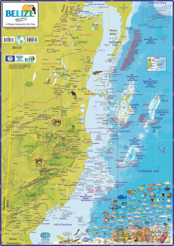 Belize Beaches Map
