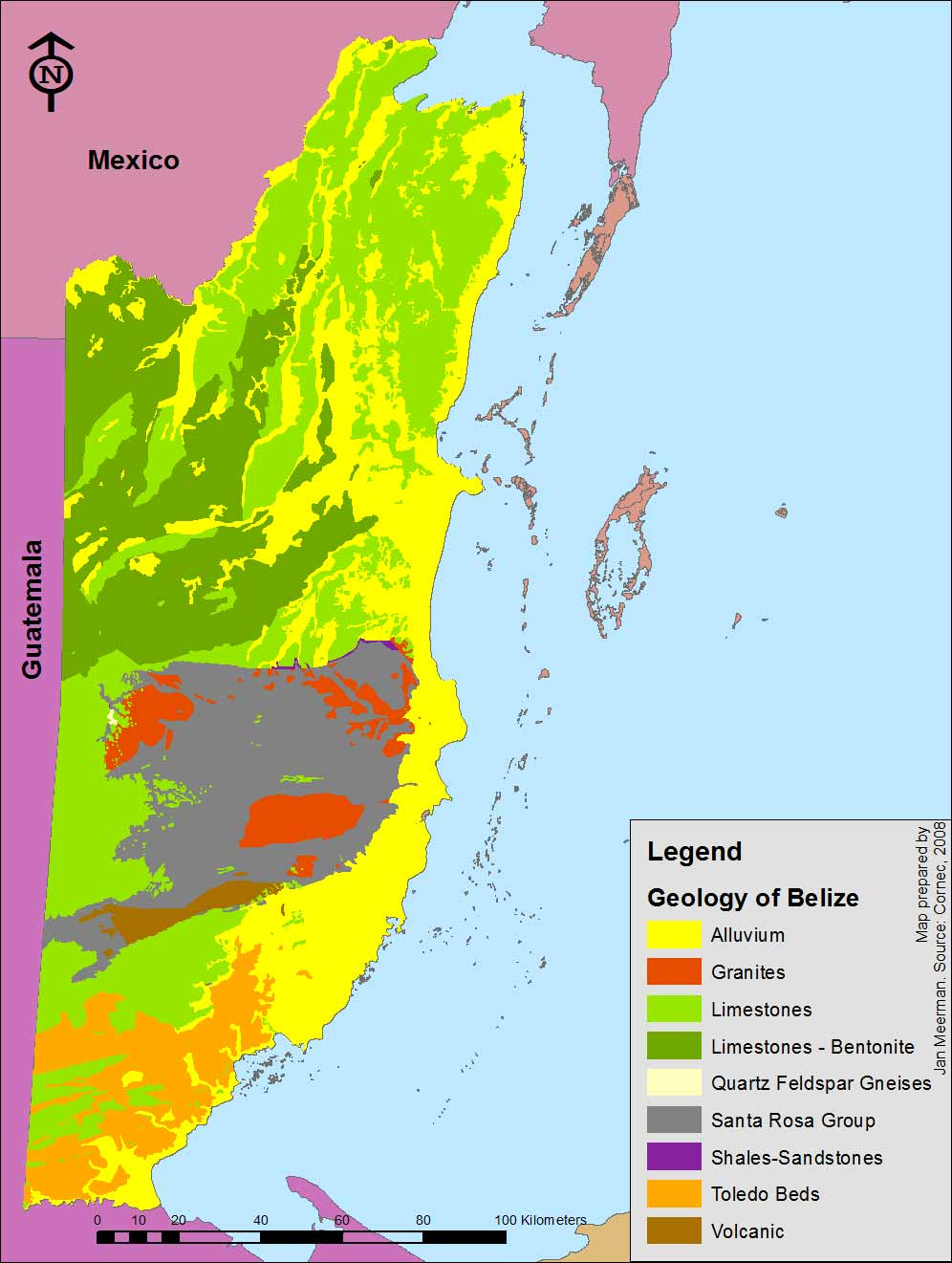 Geologic resources of Belize Belize Maps