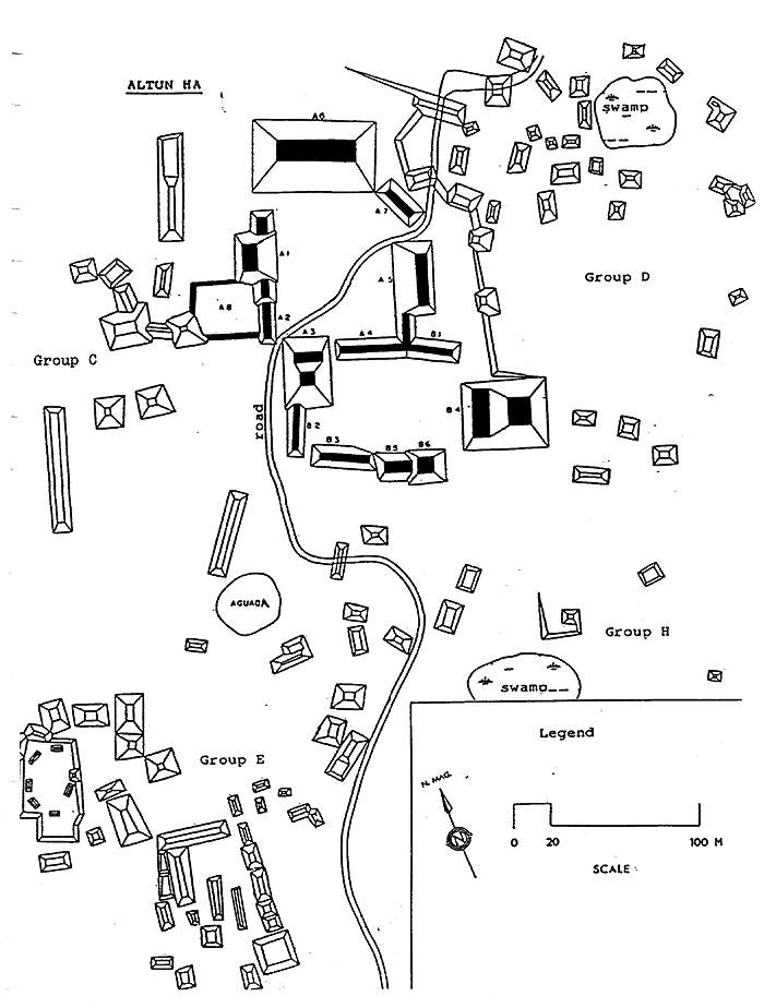 maya archaeological sites of belize belize history Red Mahogany Floors click image for larger version of map