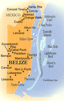 Maya Archaeological Sites Of Belize Belize History - Archaeological sites in the southwest us map
