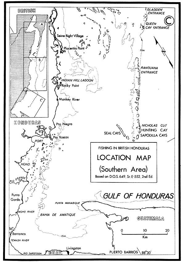 geography of fishing in british honduras and adjacent