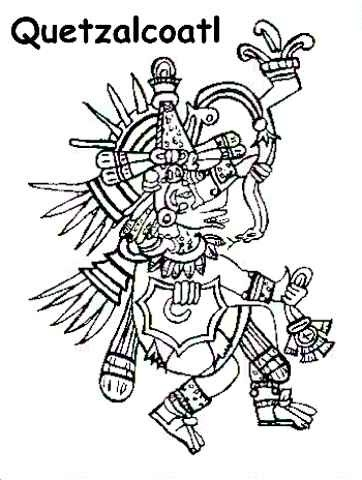 Aztec religion introduction aztecs of mexico history for Aztec gods coloring pages