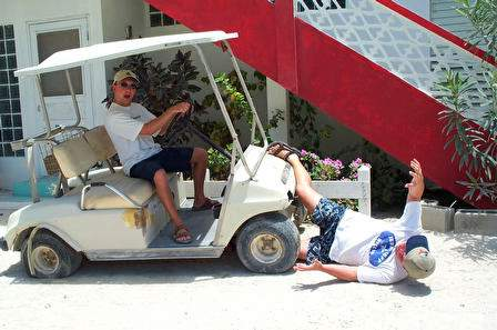 One Person Golf Cart >> Golf Cart 'accident', Photographs From Ambergris Caye, Belize
