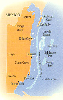 Belize General Information Facts and Maps