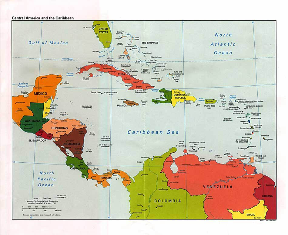 Belize and Central America Map, Ambergris Caye, Belize ...